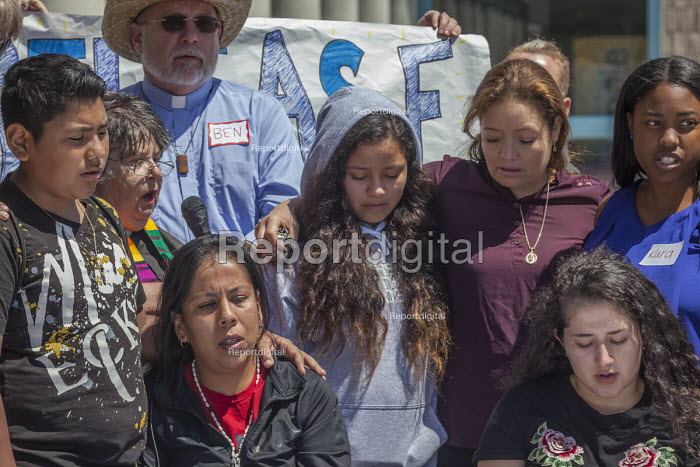 Richmond, California, USA: Activists protest, West County Detention Facility where undocumented immigrants are detained by ICE before being deported - David Bacon - 2018-07-14