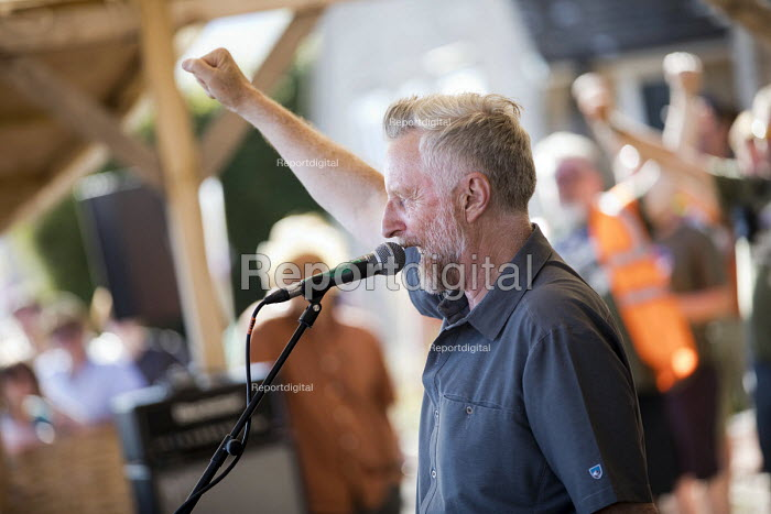Billy Bragg performing at Tolpuddle Martyrs' Festival, Dorset 2018. - Jess Hurd - 2018-07-22