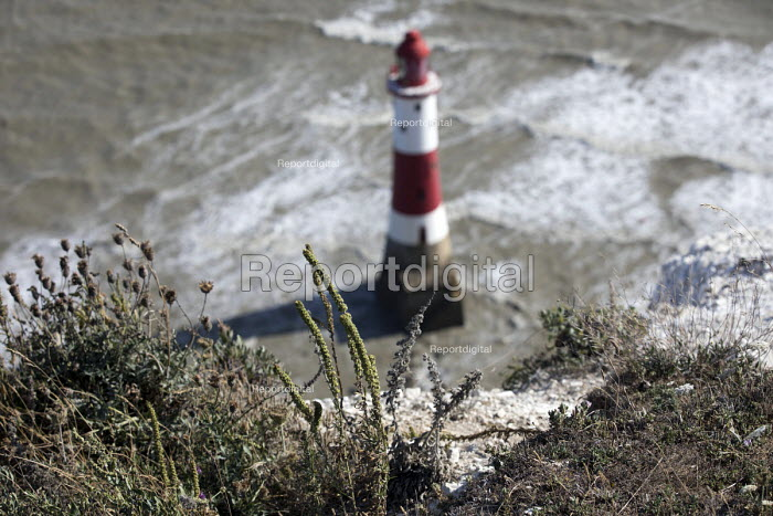 Beachy Head Lighthouse, Beachy Head is a Chalk headland and suicide spot in East Sussex - Jess Hurd - 2018-07-28