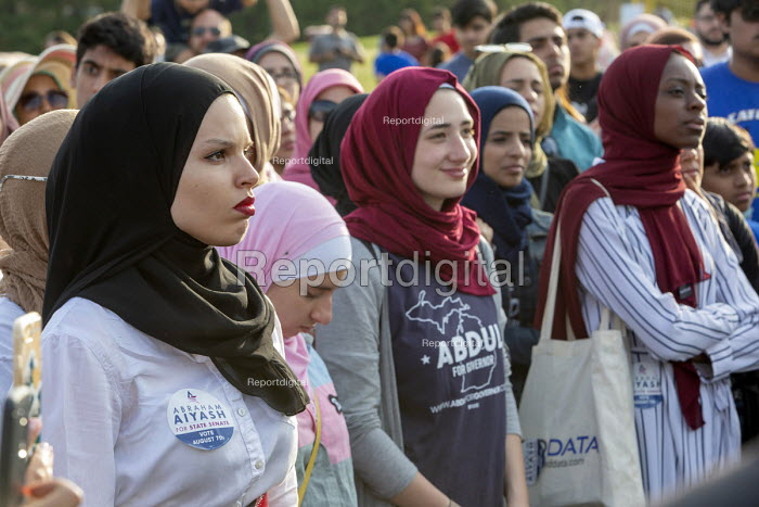 Dearborn, Michigan USA: Muslim Get Out the Vote rally, sponsored by several Muslim community organisations - Jim West - 2018-07-29