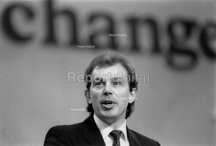 Tony Blair speaking labour Party conference 1989 - John Harris - 1989-10-04