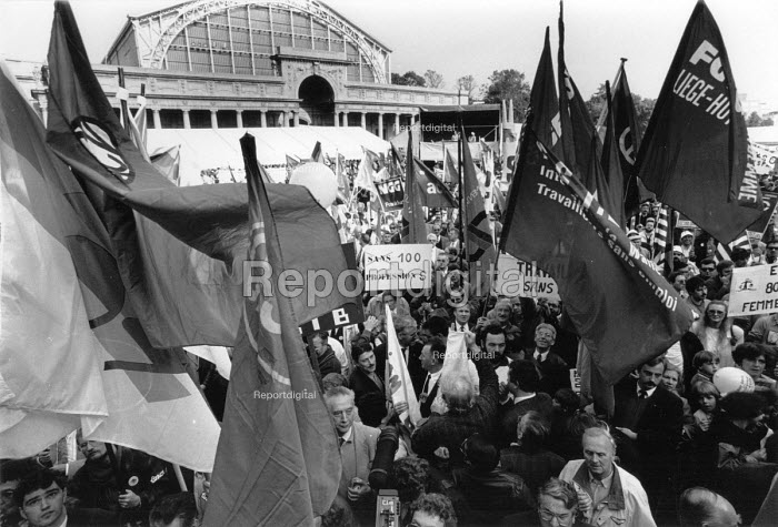 ETUC rally for an EU Social Charter of workers rights, Brussels 1989 - John Harris - 1989-10-18