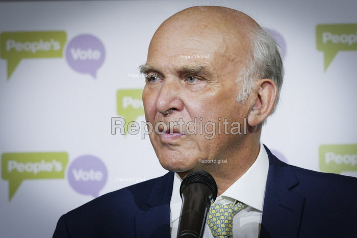Vince Cable speaking Pro EU People's Vote rally, Newcastle Upon Tyne. Campaigning for a public vote on the final Brexit deal between the UK and the European Union - Mark Pinder - 2018-08-25