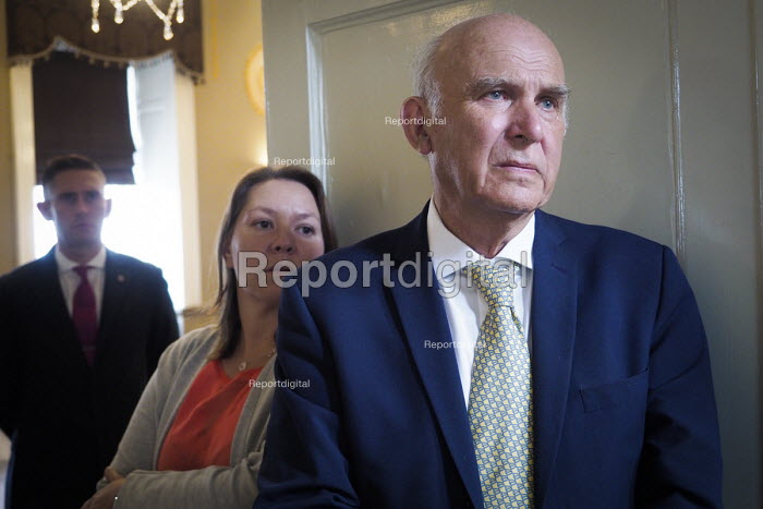Vince Cable, Pro EU People's Vote rally, Newcastle Upon Tyne, Anna Turley MP (L). Campaigning for a public vote on the final Brexit deal between the UK and the European Union - Mark Pinder - 2018-08-25