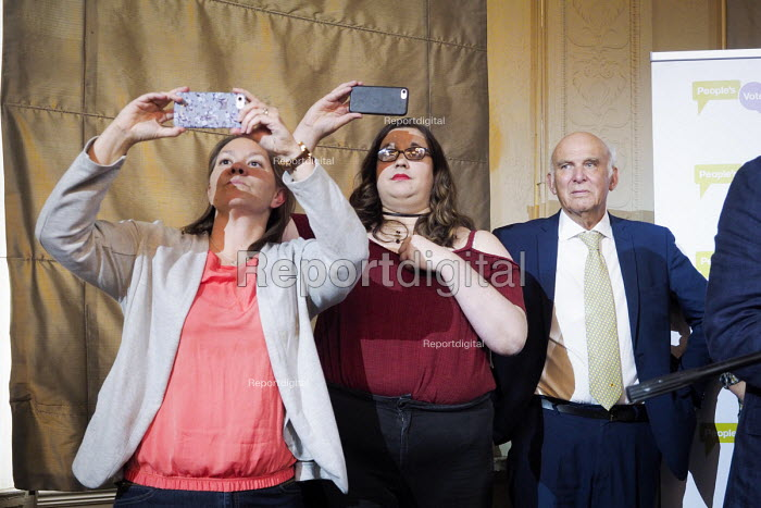 Anna Turley MP ()) Vince Cable, Pro EU People's Vote rally, Newcastle Upon Tyne. Campaigning for a public vote on the final Brexit deal between the UK and the European Union - Mark Pinder - 2018-08-25