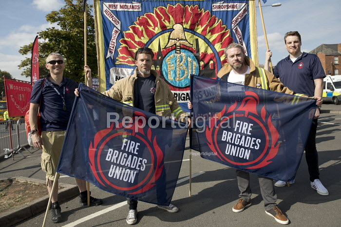 West Midlands FBU, Anti fascist March for Unity counter protest against EDL national protest, Worcester - Jess Hurd - 2018-09-01