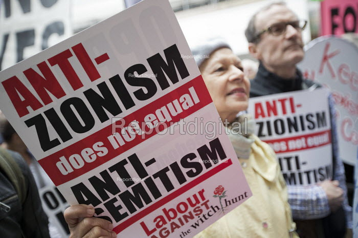 Protest against the IHRA Anti Semitism definition outside Labour Party NEC meeting, Labour HQ, London - Jess Hurd - 2018-09-04