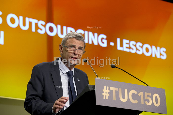 Dave Prentis Gen Sec Unison speaking TUC Congress Manchester 2018 - John Harris - 2018-09-10