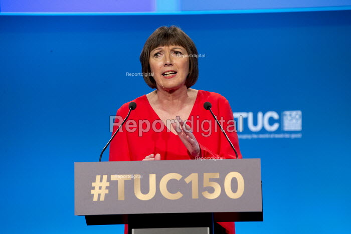 Frances O'Grady TUC speaking TUC Congress Manchester 2018 - John Harris - 2018-09-10
