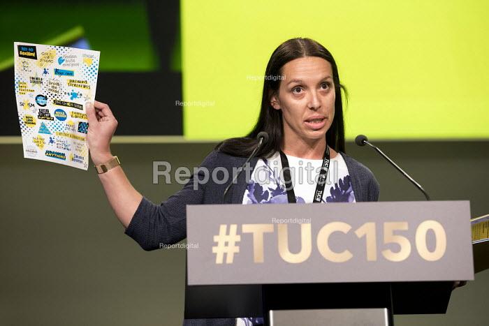 Louise Atkinson NEU speaking TUC Congress, Manchester 2018 - Jess Hurd - 2018-09-09