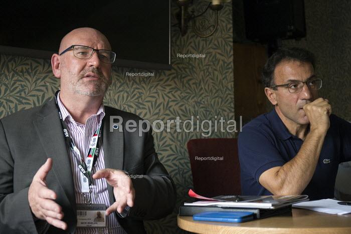 Mick Whelan Gen Sec ASLEF speaking, Professor Costas Lapavitsas, Trade Unionists Against the EU EMBRACE BREXIT REBUILD AND TRANSFORM BRITAIN, TUC Congress Manchester 2018 - John Harris - 2018-09-10