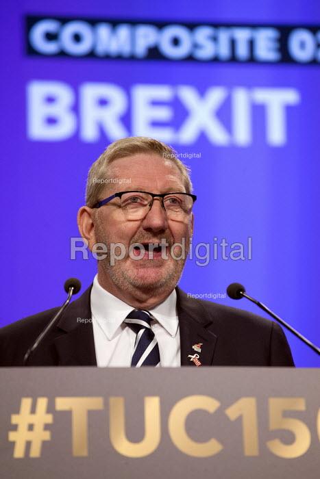 Len McCluskey speaking TUC Congress Manchester 2018 - John Harris - 2018-09-10