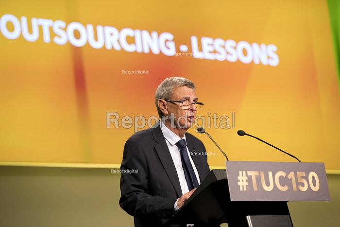 Dave Prentis UNISON speaking TUC Congress, Manchester 2018 - Jess Hurd - 2018-09-10