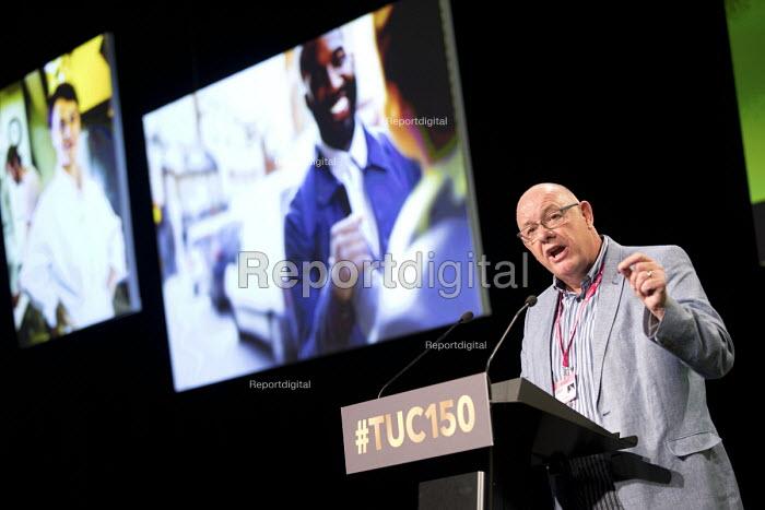 Dave Ward, CWU speaking TUC Congress, Manchester 2018 - Jess Hurd - 2018-09-10
