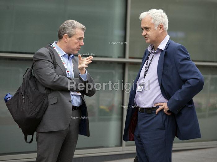 Mark Serwotka PCS speaking to Andrew Murray UNITE TUC conference 2018 Manchester - John Harris - 2018-09-10