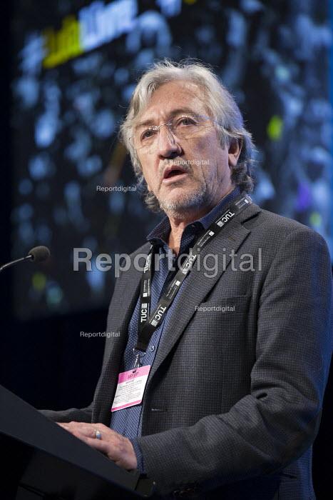 Brazilian Antonio Lisboa CUT speaking TUC conference 2018 Manchester - John Harris - 2018-09-11