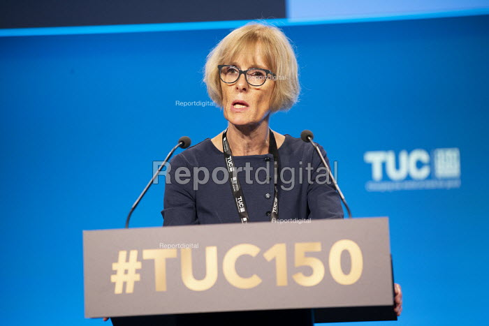 Sue Ferns Prospect speaking TUC conference 2018 Manchester - John Harris - 2018-09-11