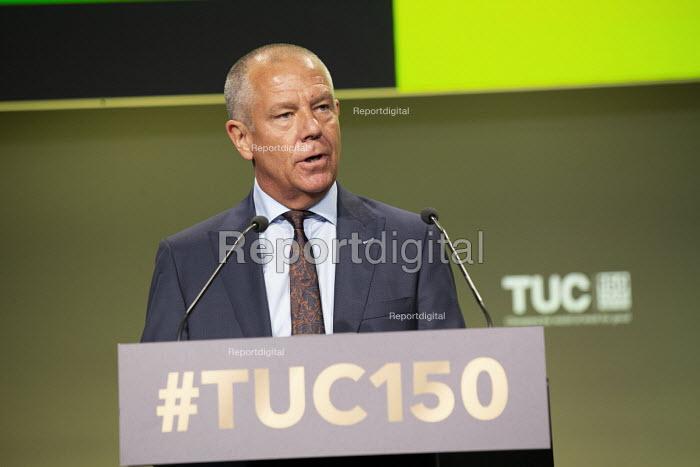 Tim Roache GMB speaking TUC conference 2018 Manchester - John Harris - 2018-09-11