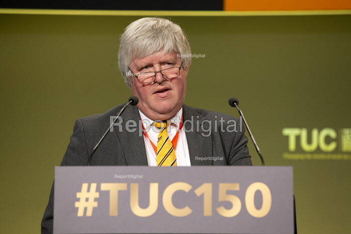 Paul Donaldson HCSA speaking TUC conference 2018 Manchester - John Harris - 2018-09-11