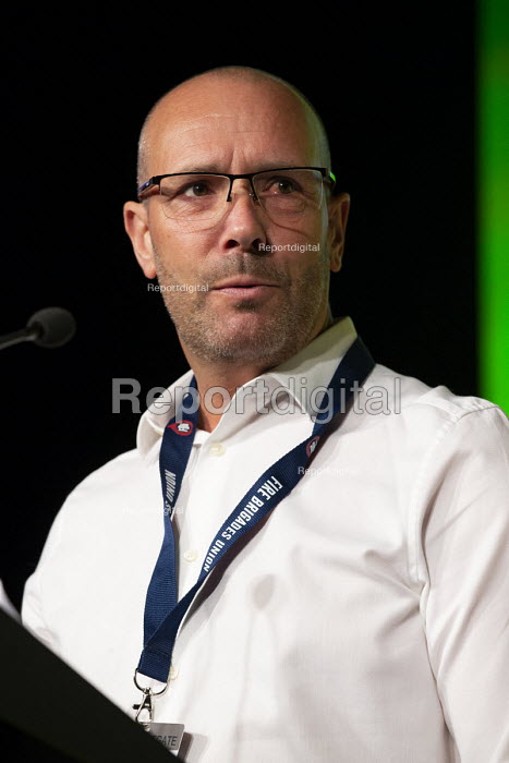 Andy Noble FBU speaking TUC conference 2018 Manchester - John Harris - 2018-09-12