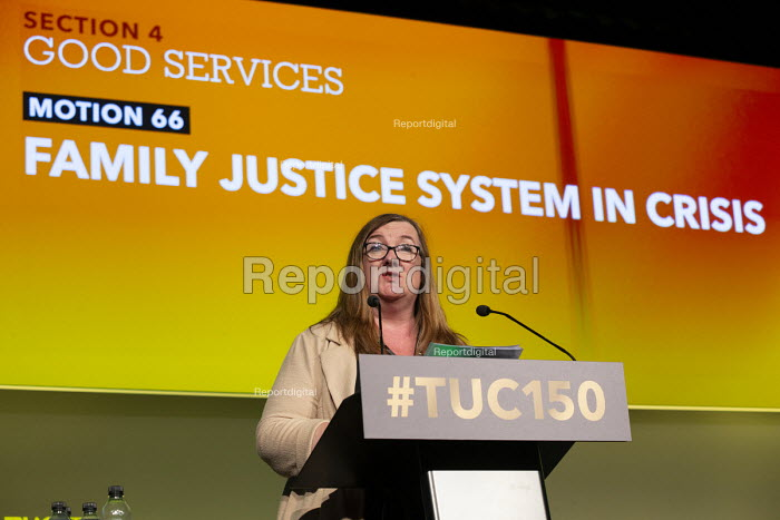 Yvonne Pattison NAPO speaking TUC conference 2018 Manchester - John Harris - 2018-09-12