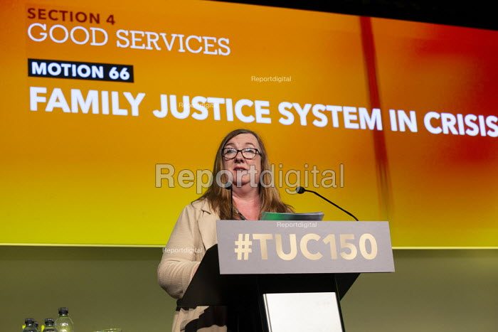 Yvonne Pattison NAPO speaking TUC conference 2018 Manchester - John Harris - 2018-09-12