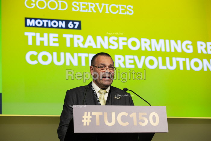 Ian Lawrence NAPO speaking TUC conference 2018 Manchester - John Harris - 2018-09-12