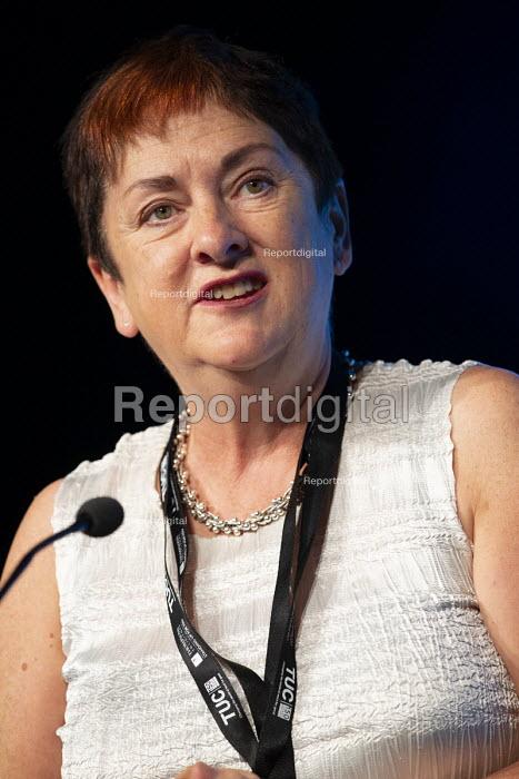 Mary Bousted NEU speaking TUC conference 2018 Manchester - John Harris - 2018-09-12