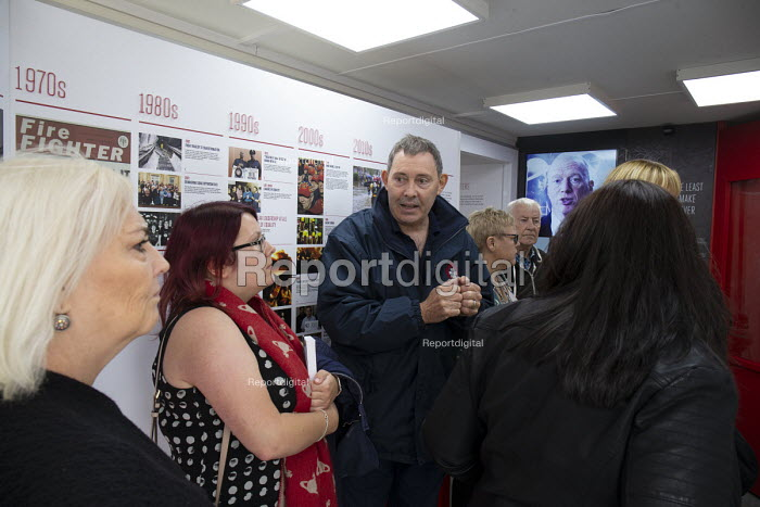 FBU history stall TUC conference 2018 Manchester - John Harris - 2018-09-11