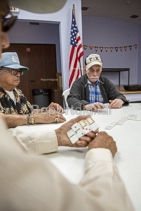Houston, Texas, USA, Senior citizens playing dominoes, Wesley Community Center - Jim West - 2017-11-01