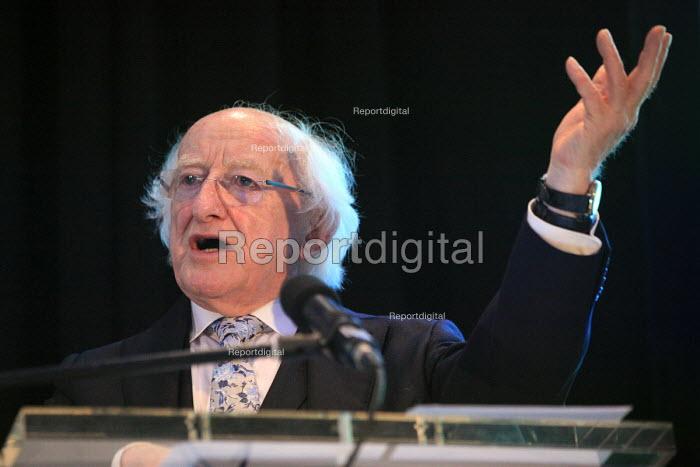 Irish President Michael D Higgins speaking, World Canals Conference, Athlone - Bob Naylor - 2018-09-12