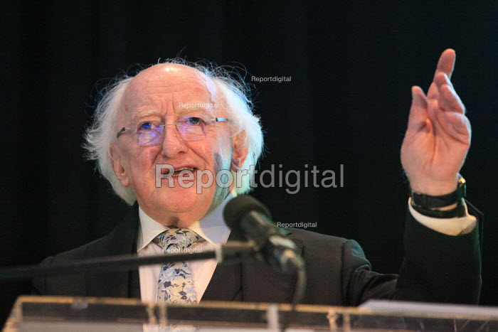 Irish President Michael D Higgins speaking, World Canals Conference, Athlone - Bob Naylor - 2018-09-12