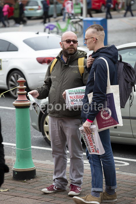 Counterfire Newspaper sellers, The World Transformed, Labour Party Conference, Liverpool - John Harris - 2018-09-22
