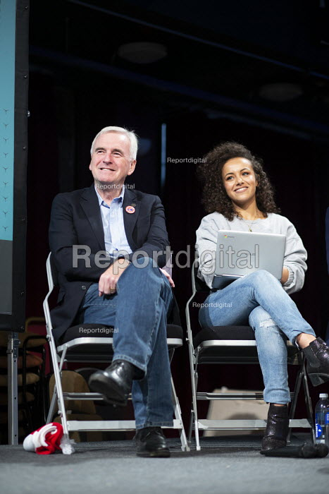 John McDonnell, Dalia Gebrial, The World Transformed, Labour Party Conference, Liverpool - John Harris - 2018-09-22