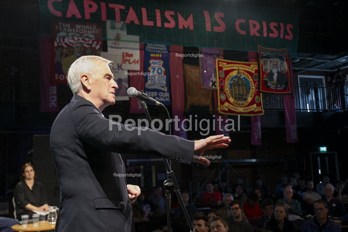 John McDonnell speaking, The World Transformed, Labour Party Conference, Liverpool - John Harris - 2018-09-22