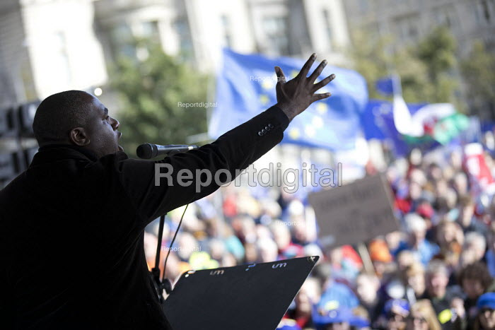David Lammy MP speaking People's Vote March for the Many, Labour Party Conference, Liverpool, 2018 - Jess Hurd - 2018-09-23