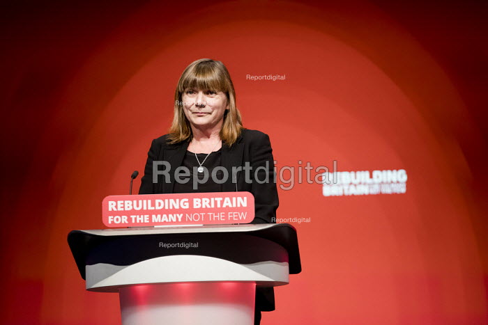TUC speaker Sally Hunt UCU speaking Labour Party Conference, Liverpool, 2018 - Jess Hurd - 2018-09-23