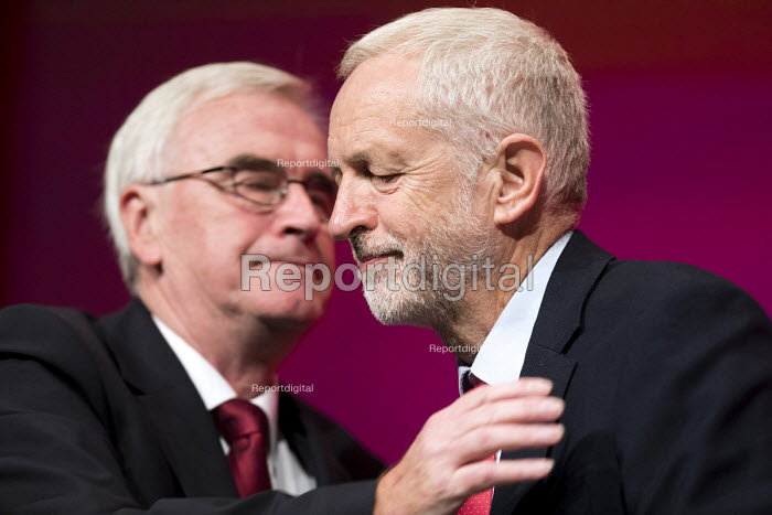 John McDonnell and Jeremy Corbyn Labour Party Conference, Liverpool, 2018 - Jess Hurd - 2018-09-24