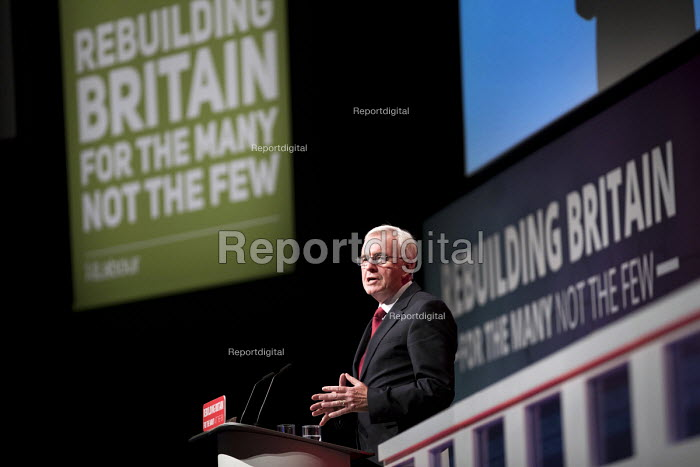 John McDonnell speaking Labour Party Conference, Liverpool, 2018 - Jess Hurd - 2018-09-24