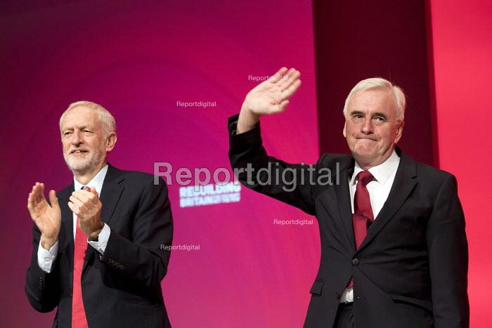 John McDonnell and Jeremy Corbyn Labour Party Conference, Liverpool, 2018 - Jess Hurd - 2018-09-24