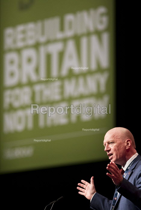 Matt Wrack FBU speaking Labour Party Conference, Liverpool, 2018 - Jess Hurd - 2018-09-24