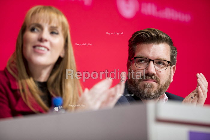 Angela Rayner MP and James Asser Labour Party Conference, Liverpool, 2018 - Jess Hurd - 2018-09-24