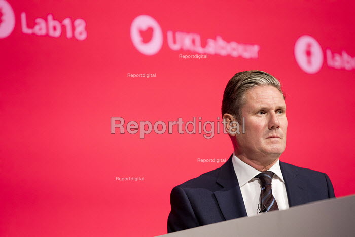 Keir Starmer MP speaking Labour Party Conference, Liverpool, 2018 - Jess Hurd - 2018-09-25