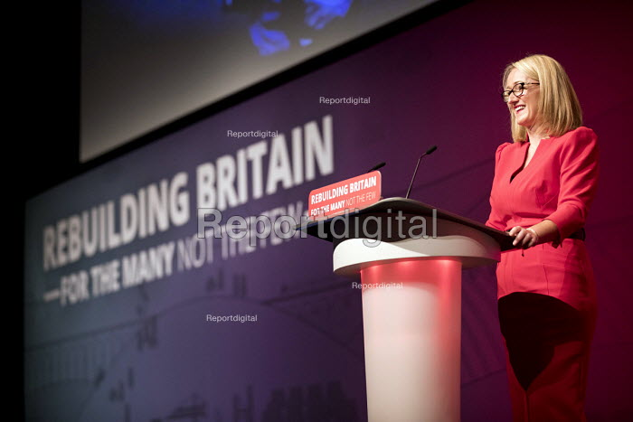 Rebecca Long-Bailey MP speaking Labour Party Conference, Liverpool, 2018 - Jess Hurd - 2018-09-25
