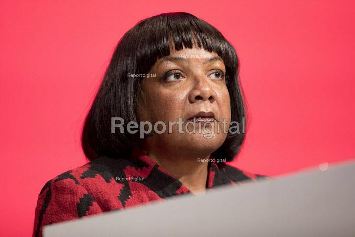 Diane Abbott MP Labour Party Conference, Liverpool, 2018 - Jess Hurd - 2018-09-25