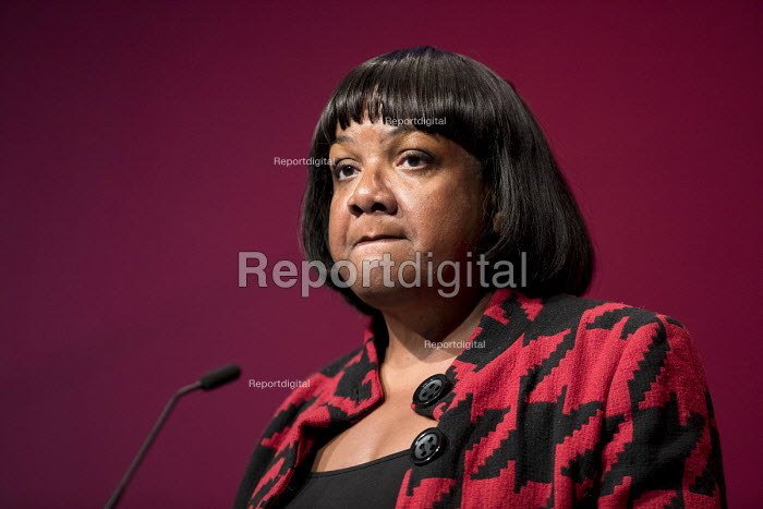 Diane Abbott MP speaking Labour Party Conference, Liverpool, 2018 - Jess Hurd - 2018-09-25