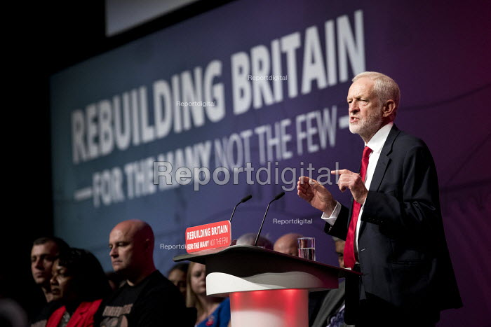 Jeremy Corbyn speaking Labour Party Conference, Liverpool, 2018 - Jess Hurd - 2018-09-26