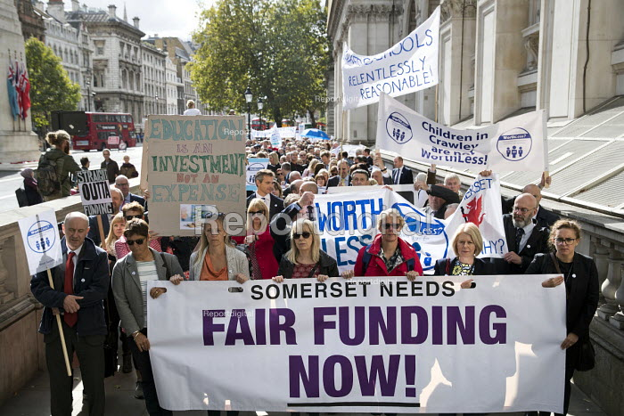 Headteachers protest for more school funding, Westminster, London - Jess Hurd - 2018-09-28