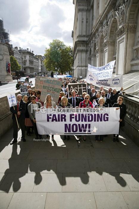 Headteachers protest for more school funding, Westminster, London - Jess Hurd - 2018-09-28