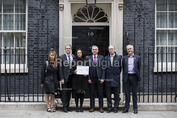 Headteachers in Downing Street protest for more school funding, Westminster, London - Jess Hurd - 2018-09-28